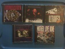 Soundgarden Temple Of The Dog Mother Love Bone Hard Rock CD Lot Of 5 Discs