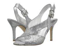 MICHAEL Michael Kors Becky Crisscross Slingback Sandals Silver Size 6