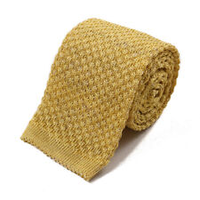 New $195 ISAIA NAPOLI Golden Yellow Knit Silk and Linen Tie