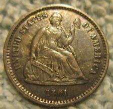 1861 Seated Liberty Half Dime, AU* (JBX)A