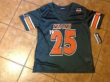 University Of Miami Junior Miss XL Fits Size 15  FB Jersey New With Tags