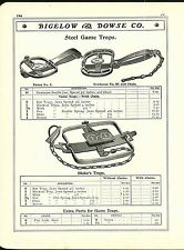1906 11 AD Blake Lamb & Co Steel Leg Hold Traps Newhouse #4 #3 Marty's Erie Rat