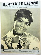 DIONNE WARWICK Sheet Music I'LL NEVER FALL IN LOVE AGAIN Hansen Publ. 70's POP