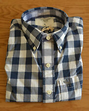 NUOVO Abercrombie & Fitch gothics Mountain Navy Blue Check Camicia controllati M RRP £ 82