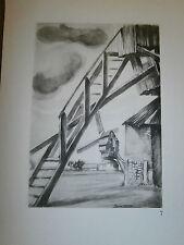 Gravure moulin a vent par P. Valade Nord Moulin de Steenvoord an 1576