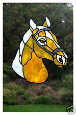 Horse Stained glass effect window decor cling