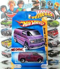 Hot Wheels 2008 #007 Custom '77 Dodge Van PEARL MAGENTA,ERROR-WINDSHIELD,RARE!