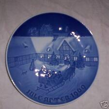 Bing & Grondahl Christmas Plate - 1969 - Sleigh