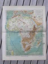 Antique kaart map Afrika Africa height flood 1902