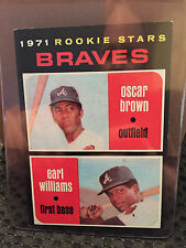 1971 Topps # 52 Braves Rookies ... NM+ ***..  Oscar Brown ... RB-4091