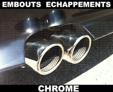 CHROME EXHAUST TIPS TAIL PIPE MUFFLER for BMW E60 E61 5 SERIES 2003-10 71mm M M5