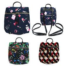 Korea Fashion MINI Backpack Cross Tote Bag School Travel Polyester Faux Leather