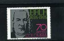 BARROCO> BY J.S. BACH>   COLOMBIA,- 1986 MNH