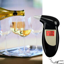 Digital LCD Breath Alcohol Breathalyzer Analyser Tester Detector Keychain PB