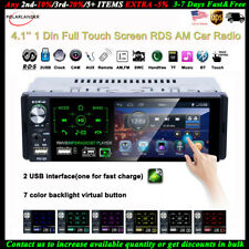 4''1 Din Car Radio Full Touch Screen 2USB RDS FM Bluetooth Stereo AM MP5 Player