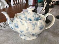 GRACIE CHINA BLUE FLORAL TOILE NEW ELEGANT  TEA POT