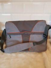SAMSONITE LAPTOP CARRIER TRAVEL SHOULDER BAG GREY ORANGE BLACK man bag