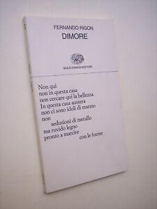 RIGON Fernando: DIMORE, Collezione Poesia Einaudi, prima edizione 1989.