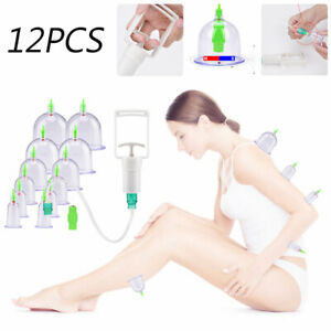 12pcs Cupping Vacuum Massage Cups Set Therapy Health Acupuncture Suction