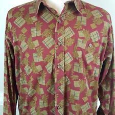 Vtg 90's Ralph Lauren Chaps Button Front Shirt Mens Sz XL Leaves Boy Scout Label