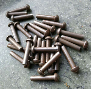 """5/32"""" x 3/4"""" Solid Iron Rivets Snap Head pkt of 25 Model Engineering Live Steam"""