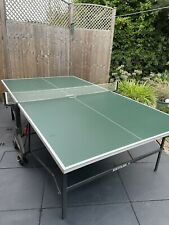 New listing KETTLER Easy Folding TABLE TENNIS TABLE INDOOR/OUTDOOR, Green With White Net