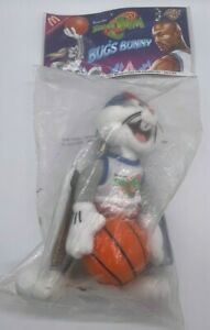 "Space Jam Tune Squad 9"" Bugs Bunny Vintage Stuffed Plush Looney Tunes NIP 1996"