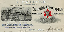 RARE -1892 Letterhead - Helena MT - Montana Switzer Val Blatz Brewing Co Beer