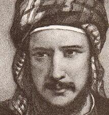 Lithographie Portrait Stanislas d'Escayrac-Lauture Orient Chine Afrique 1862