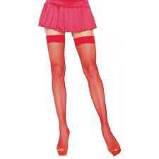 Nylon Fishnet Thigh High Stockings Adult Womens Hosiery