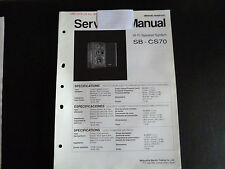 Original Service Manual Technics  Hifi Speaker System SB-CS70