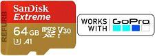 SanDisk Extreme microSD 64GB microSDXC 64 GB memory card UHS-I Class 10 A1 V30