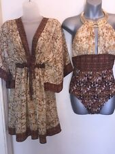 Gottex Swimsuit +100% Silk Cover Up New Colection 2016 Total Price $520.00