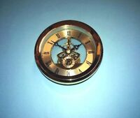 105mm GOLD SKELETON QUARTZ CLOCK  insert movement