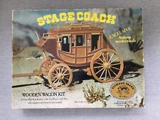 Vintage Stage Coach Wooden Wagon Kit 1:16 Allwood Brand La, Calif