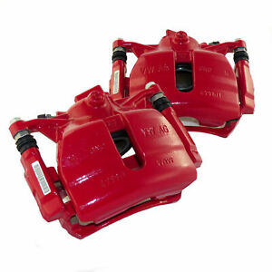 OEM Audi A3 8V Q2 Q3 TT 8S Seat Leon Mk3 5F pair front brake calipers red 312mm