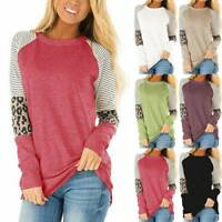 Autumn Winter Women Long Sleeve Shirts Casual Pullover Sweater Tunic Blouse Tops
