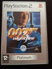007 NightFire PS2 boite vide + notice