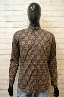 ALIZEH Camicia Uomo Vintage Taglia M Maglia Camicetta Stampa Chemise Shirt Man