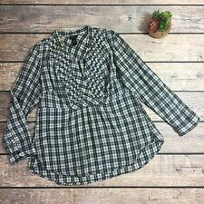 Torrid Plus Size Long Sleeve Plaid Blouse | Size 1X