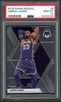 2019-20 Panini Mosaic #8 LeBRON JAMES Los Angeles Lakers PSA 10 GEM MINT