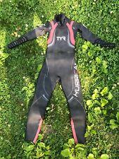 Tyr Hurricane Cat 5 Wetsuit Women's Small Full Sleeves Triathlon Swimming