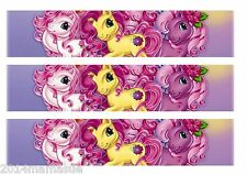 3 x MY LITTLE PONY BIRTHDAY CAKE EDIBLE RIBBON BORDER RICE WAFER PAPER TOPPERS