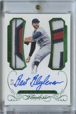 2016 Flawless Bert Blyleven Dual GAME USED Patch Auto Emerald /5 Minnesota Twins