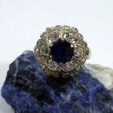 Sehr gut geschliffene Echtschmuck-Ringe aus Weißgold mit Saphir