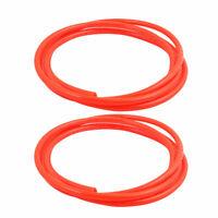 2pcs 8mm x 5mm Pneumatic Air Compressor Tubing PU Hose Tube Pipe 2 meter Red