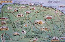 NORTH NORFOLK MAP - Posted 1926 Vintage Postcard