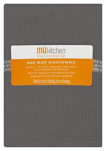MU Kitchen Cotton Bar Mop Dishtowel, Set of 3