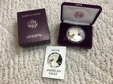 1986-S American Eagle One Ounce Proof Silver Bullion Coin in Box w/ COA