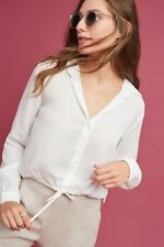NWT in Bag Anthropologie $88 Cloth and Stone White button down size LP